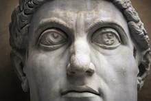 Statue Of Roman Nobel Man In Rome, Italy
