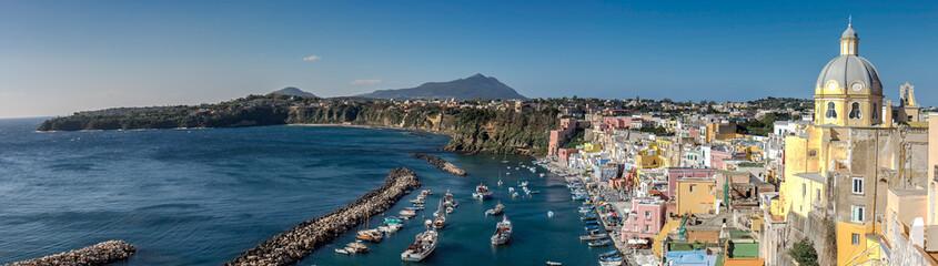 Fototapeta Panorama Miasta Corricella Village, Island of Procida, Naples, Italy