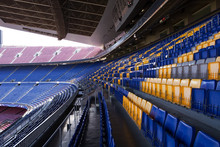Empty Seating At The Nou Camp ...