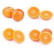 oranges on white background