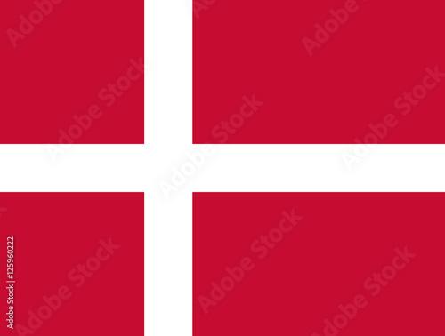 Photo  Official vector flag of Denmark . Kingdom of Denmark .