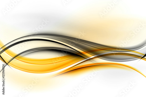Staande foto Fractal waves Abstract background powerful effect lighting. Yellow blurred color waves design. Glowing template for your creative graphics.