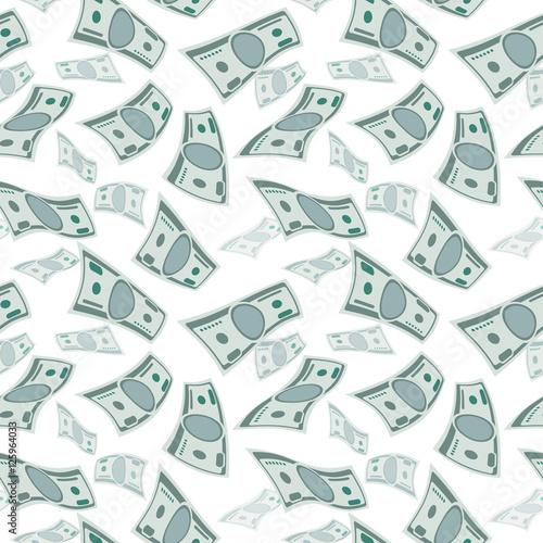 Money Wind Stream Paper Cash Tornado Finance Concept Seamless