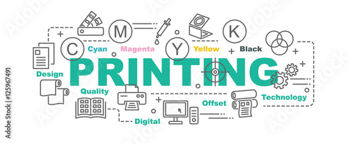 Fotografie, Obraz  printing vector banner