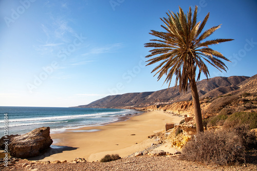 Tuinposter Marokko Plages vers Taghazout - Maroc