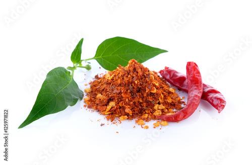 Printed kitchen splashbacks Hot chili peppers Cayenne pepper on white