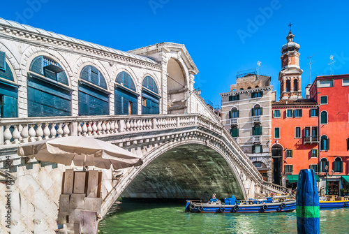 Rialto Bridge landmark Italy Canvas
