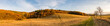 canvas print picture - Panoramic view of beautiful colorful autumnal landscape