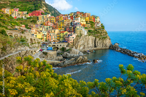 Fototapety, obrazy: Colorful town on the rocks, Cinque Terre, Liguria, Italy