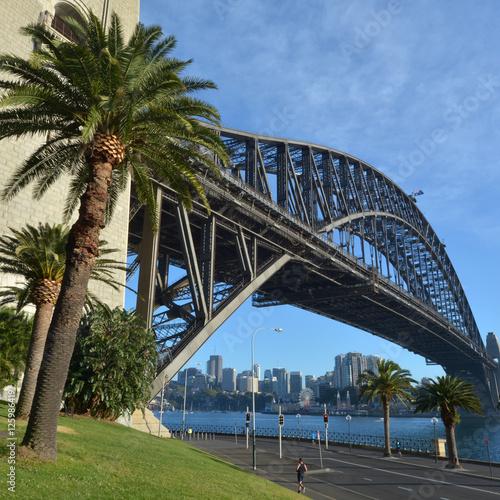 Sydney Harbour Bridge east side during sunrise © Rafael Ben-Ari