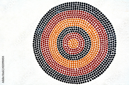 Printed kitchen splashbacks Australia Indigenous Australian art Dot painting.