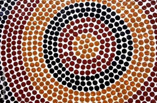 Poster Océanie Indigenous Australian art Dot painting.