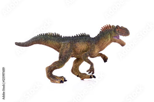 tyrannosaurus on white background