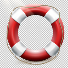 Life Buoy Isolated On Transpar...