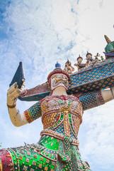 giant thai temple asia bangkok cultrue