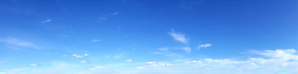 Fototapeta Panoramic sky on a sunny day.