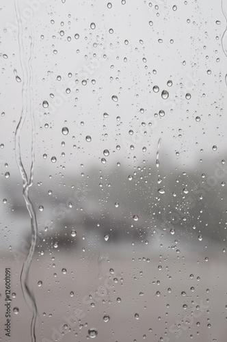Naklejka na szybę Drops of rain on the window