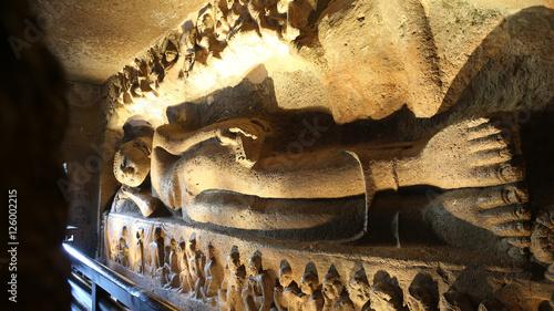 Tuinposter Boeddha Cave 26, Ajanta Caves, India