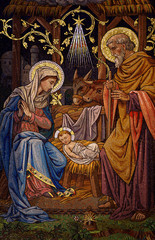 Fototapeta Do kościoła The Nativity (mosaic)