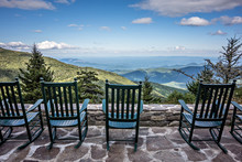 Chairs And Beautiful Mountain ...