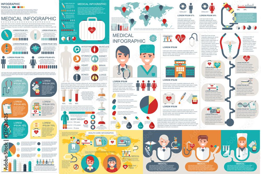 Fototapeta Medical infographic elements