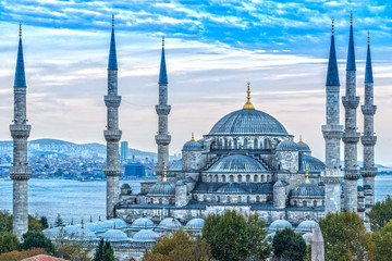 Fototapeta na wymiar The Blue Mosque, (Sultanahmet Camii), Istanbul, Turkey.