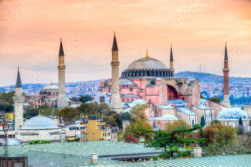 Photo  Hagia Sophia mosque, Istanbul, Turkey.