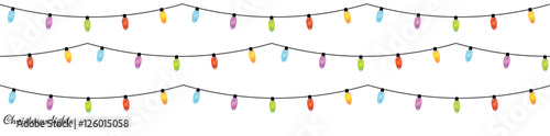 Christmas light bulbs. Xmas light strings
