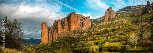 """Landscape """"Mallos de Riglos"""" in Huesca, Spain. Instead of climbing famous throughout Europe."""