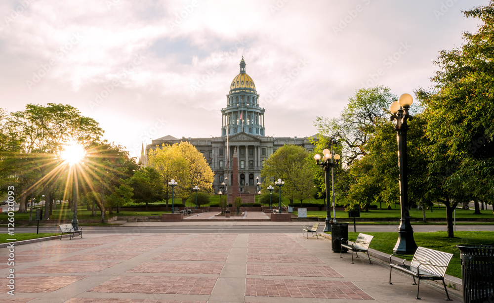Fototapety, obrazy: Front of the Colorado capital building