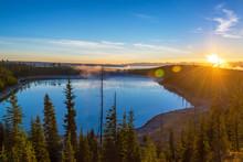 Yellowstone At Sunrise