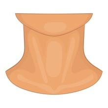 Neck Icon. Cartoon Illustratio...