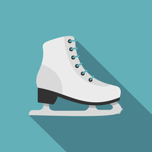 Skates Icon. Flat Illustration...
