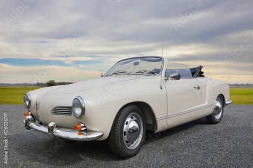Foto op Canvas Vintage cars Karmann Ghia Oldtimer