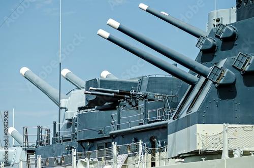 Fototapeta szczegóły zbliżone do pancernika artylerii wojennej