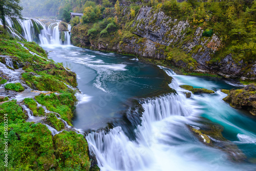 Poster Watervallen Waterfall of Strbacki Buk on Una river in Bosnia and Herzegovina