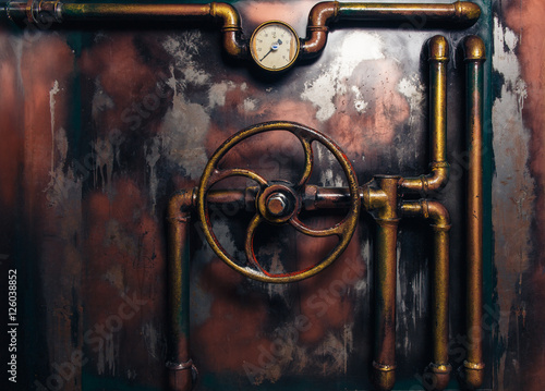 Fotografia, Obraz background vintage steampunk