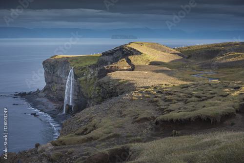 Valokuva  Waterfall, North Icelandic Coast