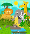 Safari Animals - Cute cartoon baby animals at the safari. Eps10