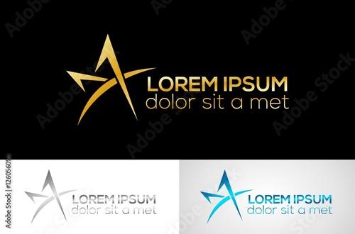 Obraz  metal star letter A logo - fototapety do salonu