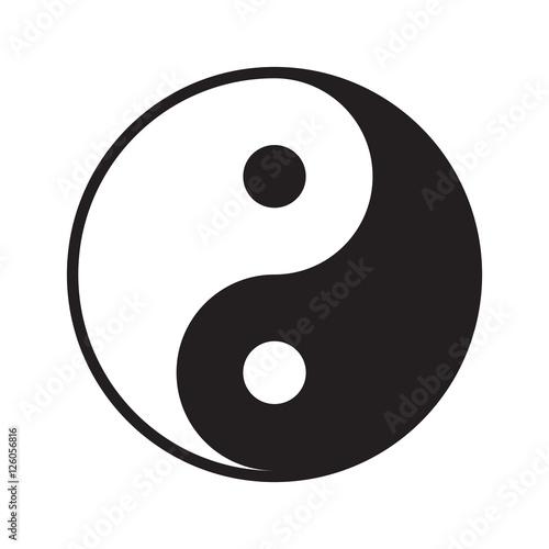 Fotografie, Obraz  Yin yang symbol vector icon