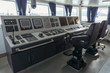 wheelhouse or bridge navigation with panel for control ship