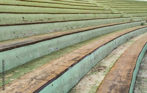 Foto op Plexiglas Stadion Old curve concrete grandstand