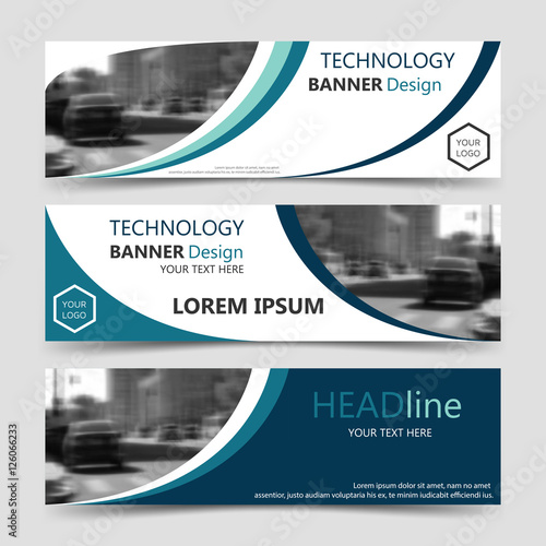 Set of blue horizontal business banner templates vector corporate set of blue horizontal business banner templates vector corporate identity website design collection wajeb Gallery