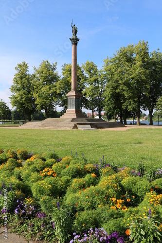 Victory Column At Burgsee In Alten Garten In Schwerin Mecklenburg