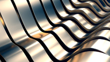 Abstract Metal Wave Background...