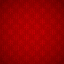 Seamless Red Background With Snowflakes