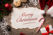 canvas print picture - Merry Christmas from Santa