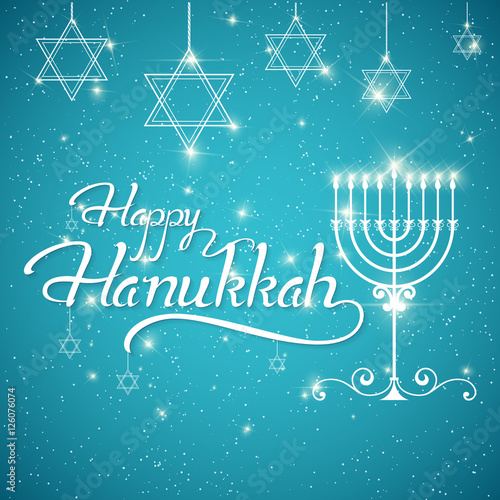 Happy hanukkah greeting lettering buy this stock vector and happy hanukkah greeting lettering m4hsunfo