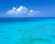 Sea Ocean And Blue Sky Background